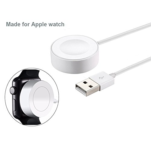 Ocamo Portable 2M Fast Wireless Magnetic Charging Cable for Apple Watch White