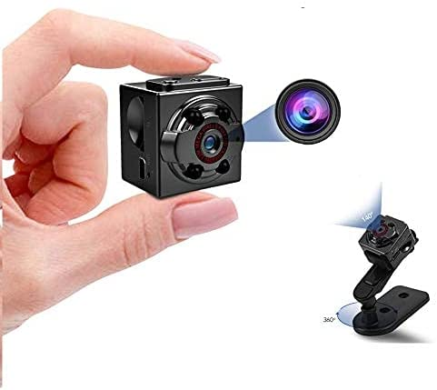 MUA868 Mini Camera NO WiFi Portable Cop Camera Security Small Camera 1080P Night Vision Sports Car DVR Cam with Motion Detection and Loop Recording for Nanny//Housekeeper