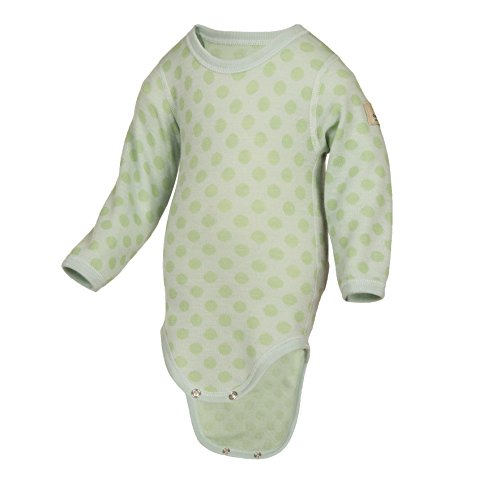 Janus Merino Wool Baby Bodysuit Polka Dot Long Sleeve Made in Norway