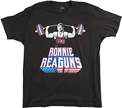 Ronnie ReaGUNS | Funny Ronald Reagan Weight Lifting Work Out Merica USA T-shirt
