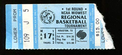 1983 NCAA Regional Basketball Tournament Round 1 Ticket Houston ()