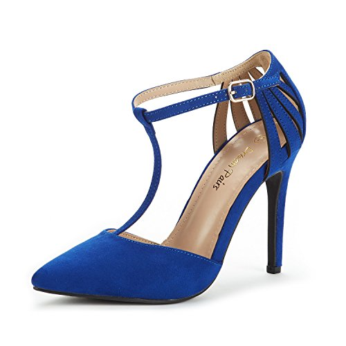 Blue High Heel Pump - DREAM PAIRS Women's Oppointed-Mary Royal Blue Fashion Dress High Heel Pointed Toe Wedding Pumps Shoes Size 8 M US
