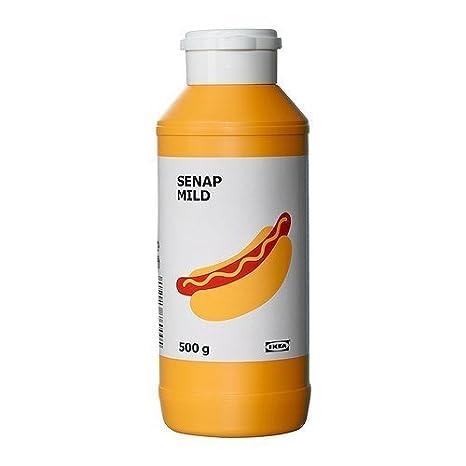 IKEA Milder Senf SENAP MILD Aus Gemahlenen Senfkörner   In  Wiederverschließbarer 500g Flasche   Für Z.B.