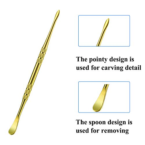 YXCC 7 Pieces Wax Carving Tool Wax Tool Carving Tool,6 Pieces Spoon Shape Tool and 1 Pieces Painting Knife Shape Tool (Silver/Gold/Rainbow)