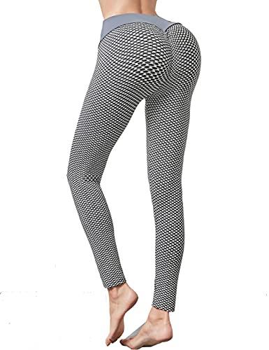 Xmoyaas Yoga Pants Butt Lifting Leggings for Women High Waist TIK Tok Workout Tights White