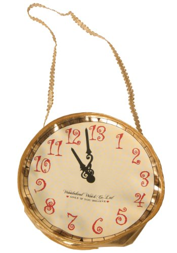 (Gold Alice and Wonderland Rabbit Clock Purse Standard)