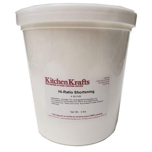 Kitchen Krafts Hi-Ratio Shortening, 3 lbs.