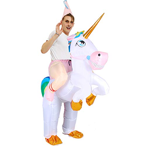 WeeLion Inflatable Clothing Unicorn Tyrannosaurus Adult Cosplay Inflatable Halloween Costume Activity Props, Adults and Children,Adult