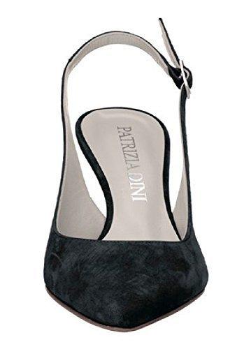 Zapatos abiertos de ante de Patrizia Dini negro
