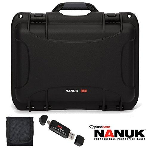 Nanuk 918 Hard Case with Foam, Black (918-1001) , Polaroid Memory Card Wallet and Ritz Gear Card Reader / Writer by Ritz Camera