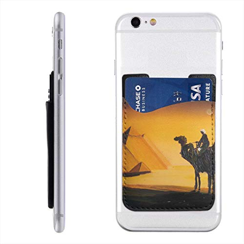 Cell Phone Stick On Wallet Egypt Pyramids Camel Card Holder Phone Ultra-Slim Pocket for iPhone, Android and Smartphones