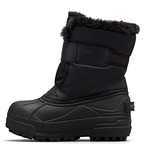 Sorel - Youth Snow Commander Snow Boots for Kids, Black, Charcoal, 5 M US