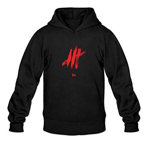 XIULUAN Men's Meek Mill DC4 2016 Logo Hoodie Size M ColorName