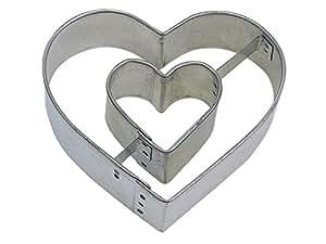 "CybrTrayd RM-1023 R&M Heart Within Heart 3"" Cookie Cutter, Metallic"