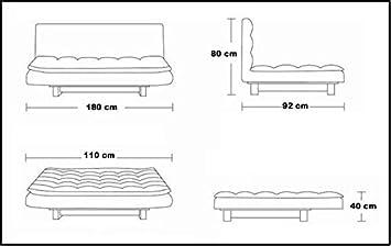JS - 560 Bianco Microfibra Gstore Divano Letto RECLINABILE