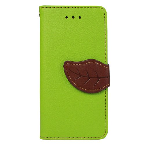 JAVOedge+Leaf+Book+Case+with+Card+Slots+for+the+Apple+iPhone+5C+(Green)