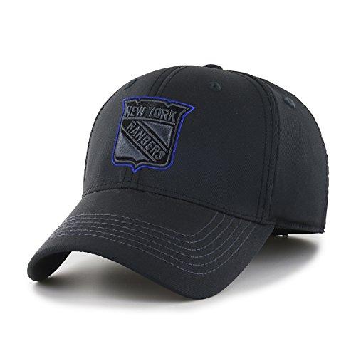 NHL New York Rangers Wilder OTS Center Stretch Fit Hat, Black, Large/X-Large (Cap Nhl Hockey Hat)