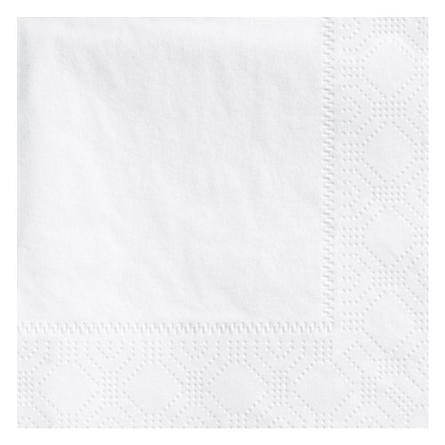 Hoffmaster 345000 710-W Beverage Napkin, Regal Embossed, 1 Ply, 1/4 Fold, 9-1/2