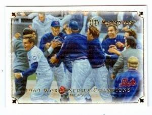 1969 New York Mets World Series Championship Celebration baseball card 2007 UD Masterpieces #85 -