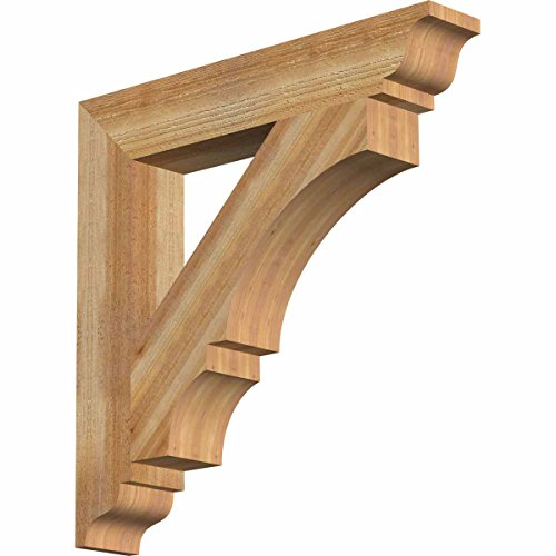 (Ekena Millwork BKT04X24X24BOA01RWR Balboa Traditional Rough Bracket, 4