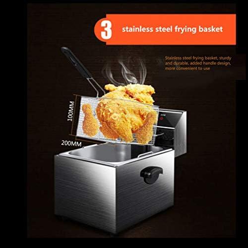 Friteuse de comptoir à température réglable en acier inoxydable 12L professionnelle pour le restaurant à la maison 3250W