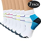Sport Plantar Fasciitis Compression Socks Arch Support Ankle Socks - Best For Running, Athletic, and Travel