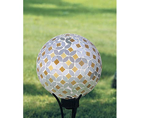 Carson Gazing Ball, Silver and Gold