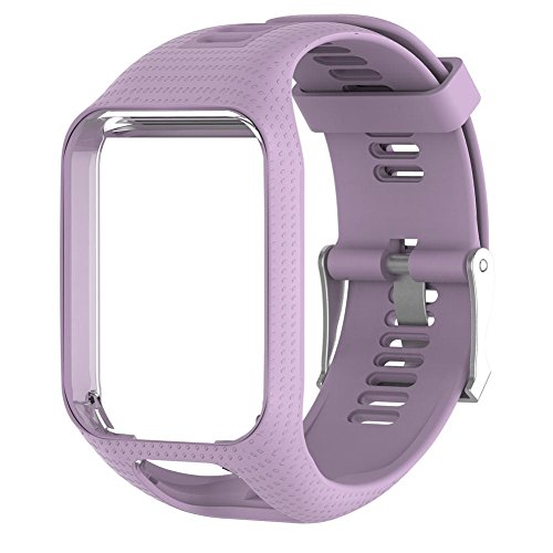 Vovi Watch Band for TomTom Runner 2/3 Series Spark GPS Adventurer Watch Silicagel Replacement Runner Watchband Watch Strap 25cm Long for Women Men
