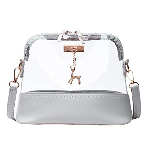 Transparent Crossbody Bag for Wome,Fawn Pendant Shell Shoulder Bag Messenger Bag
