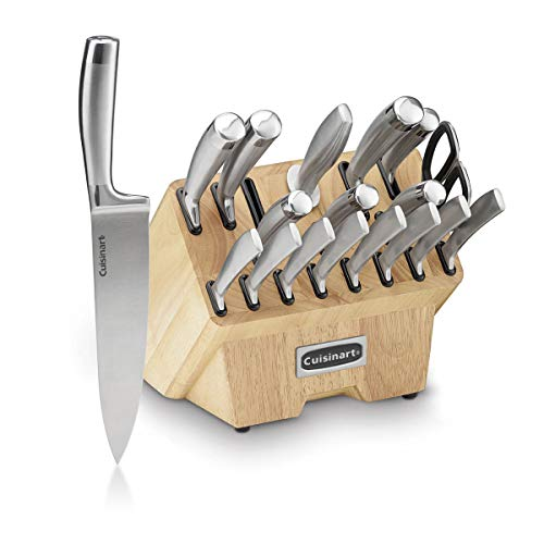 Cuisinart C77SS-19P Normandy 19 Piece Cutlery Block Set, Stainless Steel Cuisinart Stainless Steel Cutlery Set