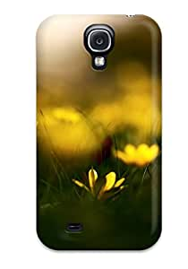 Special ZippyDoritEduard Skin Case Cover For Galaxy S4, Popular Yellow Flowers Macro Photography Green Grass Nature Flower Phone Case