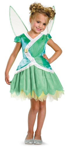 Disney Secret Of The Wings Tinker Bell Classic Costume, Green/White, (Tinkerbell Fairies Halloween Costumes)