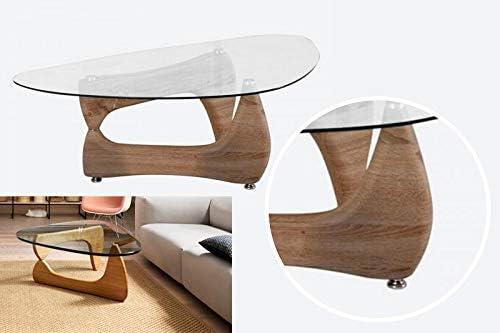 Noguchi Style Mesa de café con Parte Superior de Cristal ...