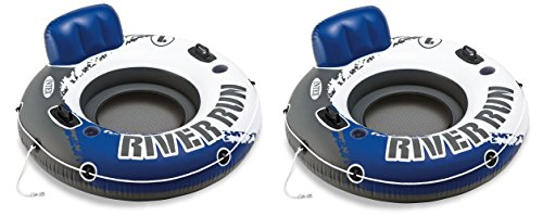 INTEX River Run I Inflatable Water Floating Tubes - 2 Pack (Tube Inflatable)