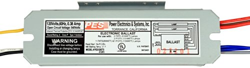 Electronic Ballast Fluorescent Lamp - PES 2 Lamps Fluorescent Electronic T5 Ballast, 120V, # PES120ET5-E120T2 Fluorescent lamps