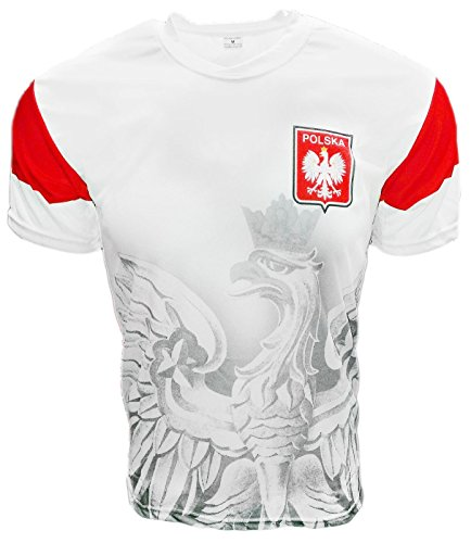 Polska Eagle Athletic Soccer Jersey Shirt White X-Large (Polish National Soccer Team compare prices)