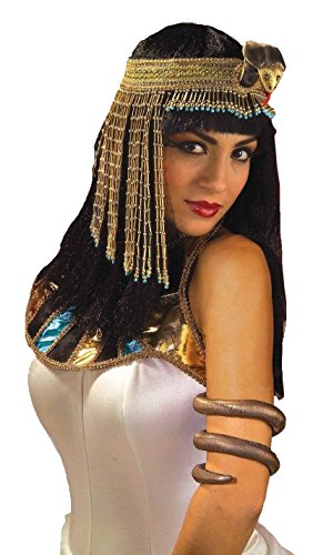Costume Snake Arm Band - Egyptian and Cleopatra Costume Accessory (Egyptian Halloween Accessories)