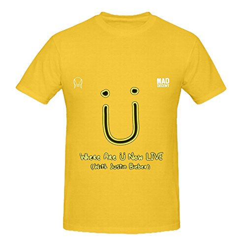 Jack U Where Are Now Live Mens O Neck Customized Tee Yellow