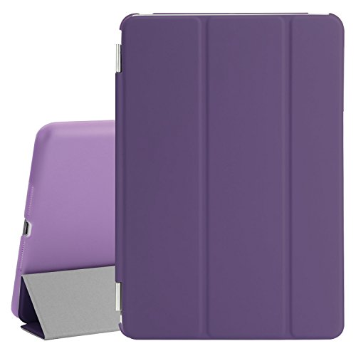BESDATA Ultra Thin Magnetic Smart Cover (Wake/Sleep Function) & Clear Back Case for Apple iPad Mini 2 / Mini 3 (with Retina Display) + Screen Protector + Cleaning Cloth + Stylus, Purple - PT3105