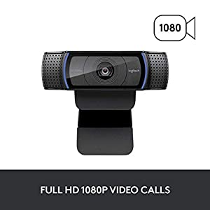 Logitech C920x HD Pro Webcam, Full HD 1080p/30fps Video Calling, Clear Stereo Audio, HD Light Correction, Works with…