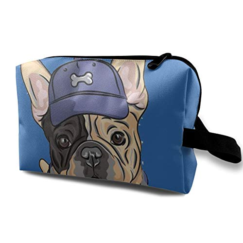 Louis Woodrow French Bulldog Unisex 3D Digital Printed Makeup Bag for Present for $<!--$11.77-->