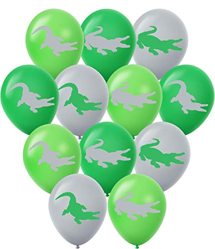 Gypsy Jades Crocodile Balloons - 30 Pack Large 12 Latex Alligator Themed Balloons - Great for Reptile Parties