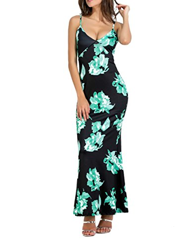 Clubwear Bandage V Sexy Strap Green Spaghetti Dress Women's Neck BessWedding Printing xw7qIXY
