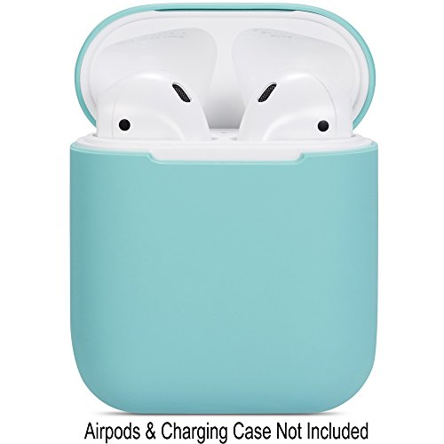 Compatible Airpods Case, Protective Ultra-Thin Soft Silicone Shockproof Non-Slip Protection Accessories Cover Case for Apple Airpods 2 & 1 Charging Case - Green