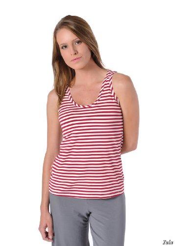 Extra Large Scarlet/Natural Striped BambooDreams 'Tessa' Tank Top