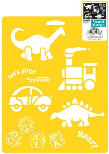 Delta Creative Stencil Mania Stencil, 7 by 10-Inch, 970730710 Kid Stuff (Creative Stuff)