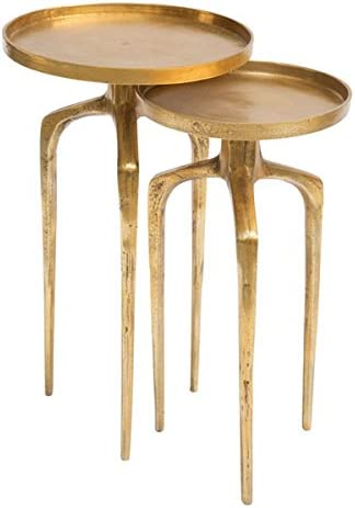 Zuo Como Accent Table Set, Antique Gold