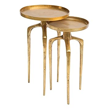 Zuo Como Accent Table Set, Antique Gold