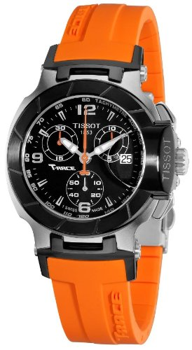 Tissot T-Race Chronograph Orange Ladies Watch T0482172705700