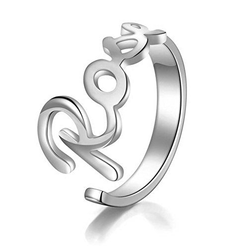 HACOOL 925 Sterling Silver Personalized My Name Ring Custom